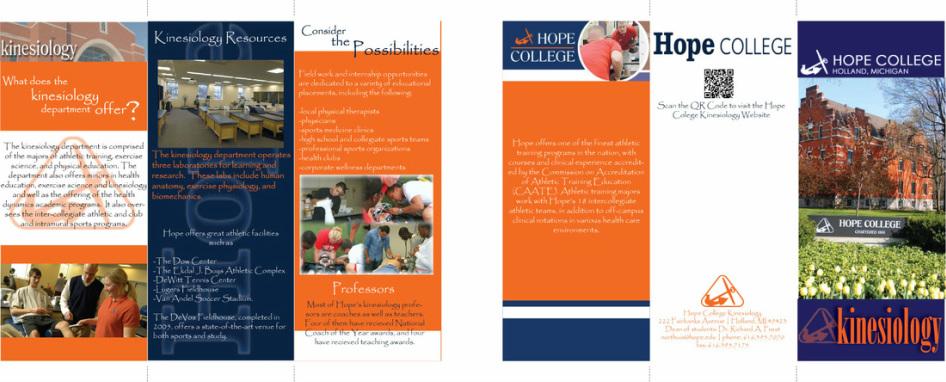 Combination Graphic Design – College Brochure